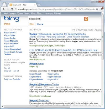 Microsoft Search Results - Bing