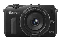  - Canon EOS M with 22mm STM Lens &amp; EF-EOS Mount Adapter (Black)