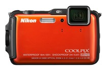 Compact Digital Cameras - Nikon Coolpix AW120 (Orange)