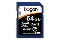  - 64GB SDXC Class 10 Memory Card - Kogan