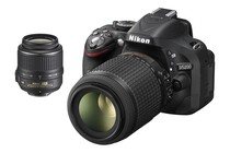 DSLR Cameras - Nikon D5200 DSLR Camera with 18-55mm & 55-200mm VR Kit