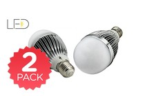 - 2 Pack LED Light Globe 8W E27