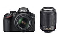 - Nikon D3200 DSLR Camera 18-55mm & 55-200mm Twin VR Lens Kit