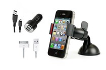 Stands, Docks, Car Mounts - Universal Phone Holder & Rapid Car Charger Kit (iPhone 4/4S)