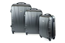 Luggage - Kogan 3-Piece Hardside Spinner Luggage Set (Charcoal)