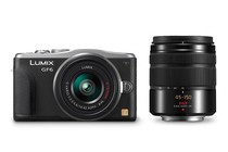 Interchangeable Lens Cameras - Panasonic Lumix DMC-GF6 14-42mm & 45-150mm Twin Lens Kit (Black)