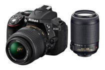 - Nikon D5300 DSLR Camera 18-55mm & 55-200mm Twin VR Lens Kit (Black)