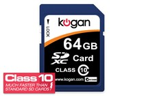Memory Cards - 64GB SDXC Class 10 Memory Card - Kogan