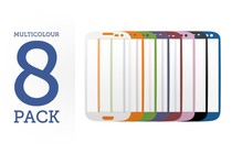 - 8 Pack Multicolour Screen Protector Pack for Samsung Galaxy S3