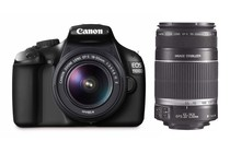 DSLR Cameras - Canon EOS 1100D DSLR Camera Twin IS Lens Kit (Black)