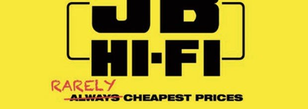 JB Hi-Fi rarely has the cheapest prices