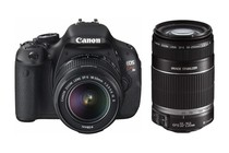 DSLR Cameras - Canon EOS Kiss X5 (600D) DSLR Camera Twin IS Lens Kit 18-55mm & 55-250mm
