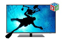 "- 55"" 3D LED TV (Full HD) + 2 Pack Premium HDMI Cable"