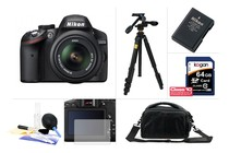 - Nikon D3200 DSLR Camera 18-55mm VR Lens Kit Ultimate Bundle