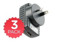 - 10W USB Rapid Charger - 3 Pack