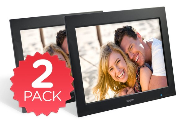 "12.1"" LCD Digital Photo Frame & Media Player - Twin Pack"
