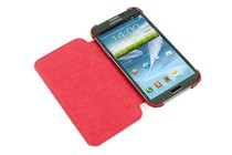  - Flip Case for Samsung Galaxy Note 2 (Red)