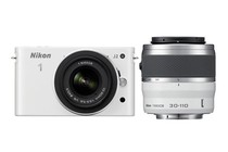 - Nikon 1 J2 with 10-30mm & 30-110mm Lens (White)