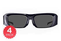 - 4 Pack Active Shutter 3D Glasses
