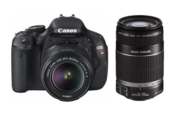 Canon EOS Kiss X5 (600D) DSLR Camera Twin IS Lens Kit 18-55mm & 55-250mm