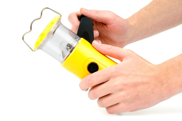 LED Hand Crank Lantern with Mobile Phone Charger