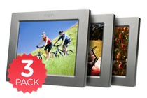 "- 8"" LCD Digital Photo Frame & Media Player - 3 Pack"