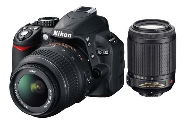 Nikon D3100 DSLR with 18-55mm & 55-200mm VR Lens Kit