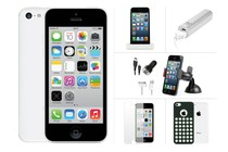- Apple iPhone 5C 16GB White Ultimate Bundle