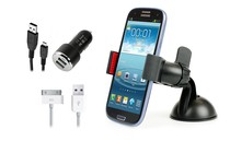 Stands, Docks, Car Mounts - Universal Phone Holder & Rapid Car Charger Kit (Android)