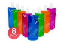 - 8 Pack Sports Foldable Drink Bottles