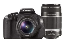 - Canon EOS 600D DSLR Camera Twin IS Lens Kit 18-55mm & 55-250mm