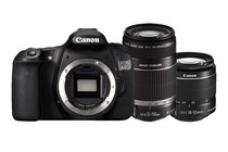 DSLR Cameras - Canon EOS 60D DSLR 18-55 II & 55-250mm IS Twin Lens Kit