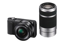 Interchangeable Lens Cameras - Sony NEX-3NY 16-50mm & 55-210mm Twin Lens Kit