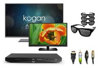 "- 47"" 3D Smart and 32"" LED TV Home Starter Bundle"
