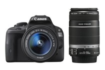 DSLR Cameras - Canon EOS 100D DSLR 18-55 & 55-250mm IS Twin lens Kit