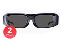 3D TV Glasses - 2 Pack Active Shutter 3D Glasses