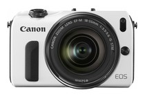 - Canon EOS M with 18-55mm IS STM Lens (White)