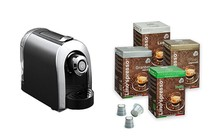 Coffee Machines - Ez-press Coffee Machine + 100 Lino's Coffee Capsules (Variety)