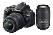 - Nikon D5100 DSLR with 18-55mm & 55-300mm VR Lens Kit