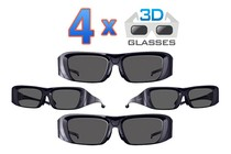 - 4x 3D Glasses for your Kogan 3D TV - Family Pack
