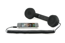  - Retro Phone Handset for iPhone and Mobile Phones (Black)