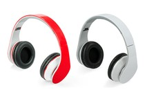  - Twin Pack of Pro Urban DJ Studio Headphones (White &amp; Red)