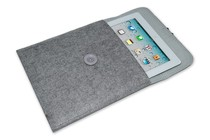 "- Felt Par Avion Tablet Case - 10"" (Ash)"