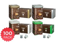 Coffee - 100 Pack Lino's Nespresso Compatible Coffee Capsules (Variety)