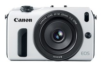  - Canon EOS M with 22mm STM Lens &amp; EF-EOS Mount Adapter (White)