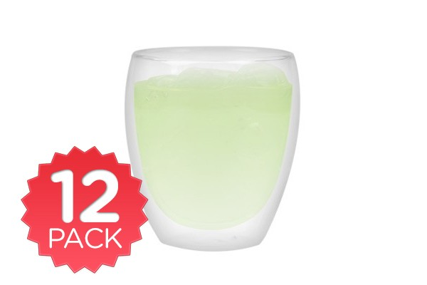 Double Wall Drink Glass 250ml - 12 Pack
