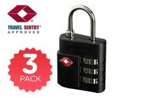 - 3 Pack TSA Luggage Lock