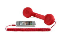  - Retro Phone Handset for iPhone and Mobile Phones (Red)