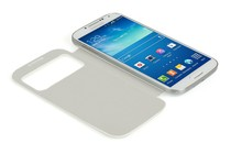 Smartphone Cases - S View Case for Samsung Galaxy S4 (White)