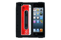Smartphone Cases - Tape Deck Silicone Case for iPhone 5/5s (Black)
